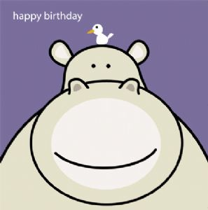 Animal Magic Birthday Card - Hippo